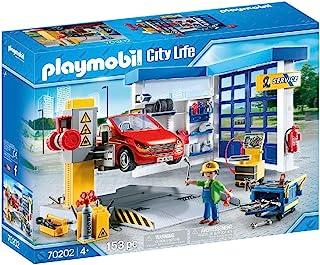 PLAYMOBIL 摩比世界 City Life 汽车维修店拼插玩具 70202,适合4岁以上儿童