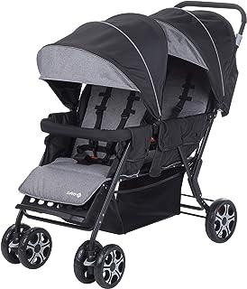 Safety 1st Teamy 双胞胎婴儿车 适合新生儿 3.5岁以上 黑色