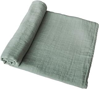 mushie 平纹细布婴儿襁褓毯 | * *棉(灰*)