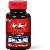 Schiff 旭福 MegaRed 强力软胶囊,750mg Omega-3 磷虾油补充剂(每瓶120粒),无腥味,具有E…