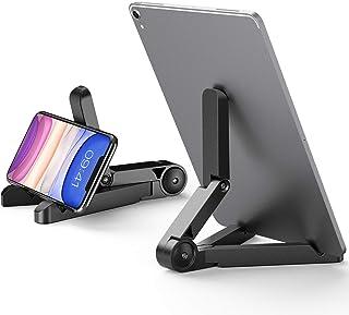 ORIbox 可调节支架,适用于 iPhone、iPad、手机支架,桌面实心通用书桌支架,适用于所有 iPhone 12/11 Pro Max XS Max XR X 8 7 6S Plus SE 2020 12 mini、Samsung Ga...