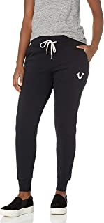 True Religion 女式长款复古中腰修身慢跑运动裤
