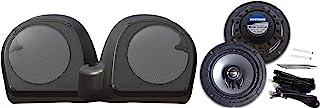 Hogtunes 低扬声器适配器和 6.5 英寸(约 16.5 厘米)扬声器带烧烤架,适用于 2014 + Harley-Davidson 哈雷戴维森液体冷却(非 CVO)Ultra 型号 LC Lower-RM