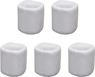 Clarity & Muse 5 件陶瓷钟声仪式咒语蜡烛盒 - 白色