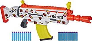 Nerf ortnite AR Durrr Burger电动玩具枪,定制贴纸,20个飞镖,10个飞镖夹——适合年轻人、青少年和成年人(亚马逊专属)