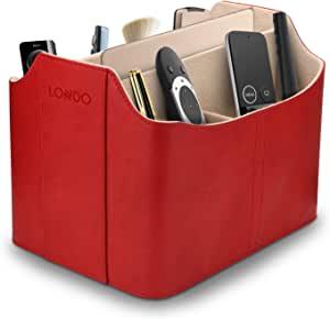 OTTO Leather 遥控器收纳盒及收纳盒,带平板电脑插槽OTTO173