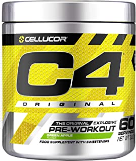 Cellucor C4 原装-锻炼前膳食补充剂-青苹果-60 份