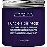 Majestic 純紫色發膜,適用于金發、白金、銀發、對抗Brassiness,不含硫酸鹽 - 8 液體盎司