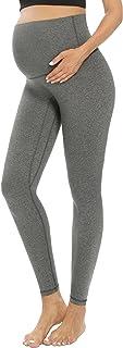 GLAMIX 女式孕妇瑜伽裤腹部孕妇锻炼运动打底裤