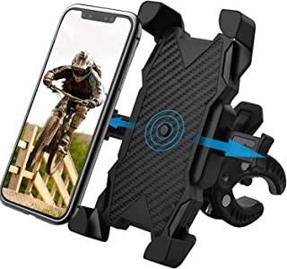 自行车手机支架,自行车摩托车手推车 购物车 电动滑板车 室内跑步机 旋转自行车 适合所有 4.7 英寸 - 6.8 英寸手机设备