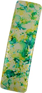 CARAVAN Rectangular French Automatic Hand Painted Barrette, Sunny Blend