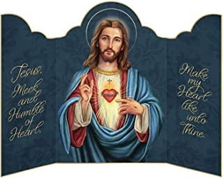 带祈祷的宗教贺卡,三联折叠励志卡片,带信封,7 英寸,3 件装