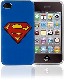 PHONIX DC 漫画超人标志手机壳带屏幕保护膜适用于 Apple iPhone 4/4S