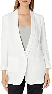 A|X Armani Exchange 女式排扣薄纱单扣西装