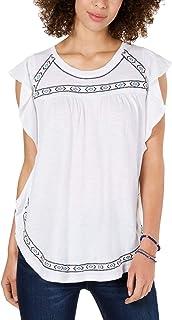 Style & Co. 女式刺绣蝴蝶袖上衣