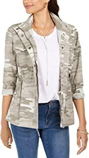 Style & Co 女式迷彩斜纹夹克,中色,XL 码