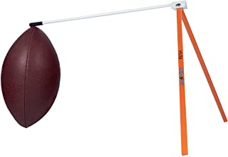 踢水! 橄榄球支架 - 足球固定夹踢球 T 恤 - 与足球场门柱或足球踢球网搭配使用(橙色和白色)
