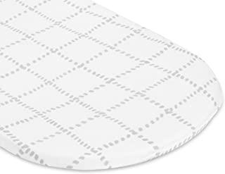 Petit Dreams 摇篮床单针织棉,适合男婴或女婴,弹性适合多种尺寸摇篮床床垫和迷你共伴座椅,网格线