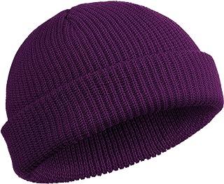 Trawler 豆豆帽手表帽卷边骷髅帽渔夫帽男女款(紫色)