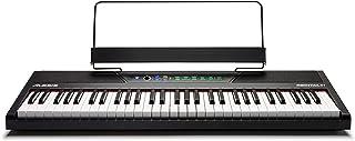Alesis Recital 61 – 初学者数码钢琴 / E 钢琴 带 61 个标准尺寸半加重按键,电源,内置扬声器和 10 个高品质声音