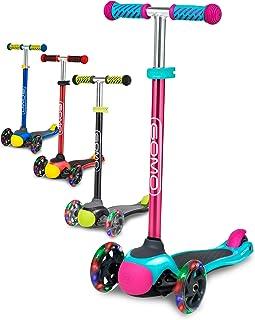 GOMO 儿童滑板车 2-5 岁可调节高度踢踏板车 3 轮幼儿滑板车 W / 颜色适合男孩和女孩