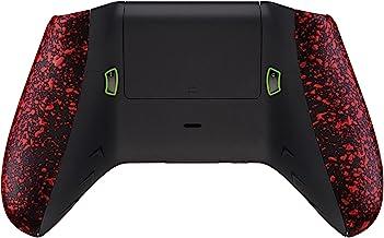 eXtremeRate FlashShot 触发器停止底壳套件适用于 Xbox One S 和 One X 控制器,重新设计的后壳和纹理红色手柄和发夹,适用于 Xbox One S X 控制器型号 1708