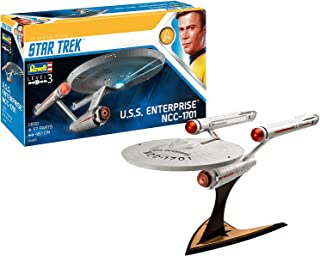 Revell 4991 U.S.S. Enterprise NCC-1701 (TOS) 1:600 比例塑料模型套件 James T. Kirk, U