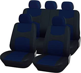 Rebeca Shop A18 _ BR 座椅套方向盘套和*带垫 蓝色 宝蓝色/黑色,通用