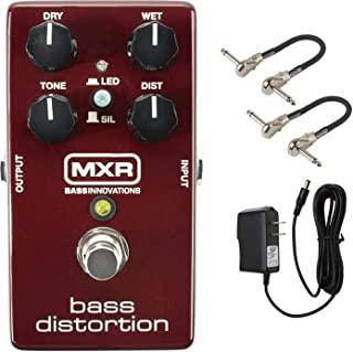 MXR M85 低音失真踏板套件,带 2 个 MXR 贴片电缆和 9V 电源