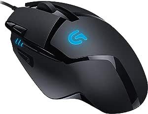 Logitech 罗技 G402 Hyperion Fury 游戏鼠标 带 4K DPI 光学传感器 8 个可编程按键 DPI 切换按键 32 位 ARM 处理器 重量轻PC/Mac 黑色