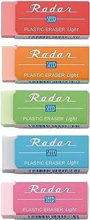 SEED 橡皮擦 彩色雷达灯 60 40個 5色(红色・橙色・绿色・蓝色・粉红色)