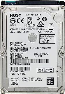 HGST Travelstar 7K1000 2.5 英寸 1TB 7200 RPM SATA III 32MB 缓存内部硬盘 0J22423