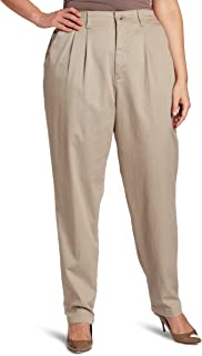 Lee Women's Plus-Size Relaxed Fit Side Elastic Pant, Taupe, 16W Long