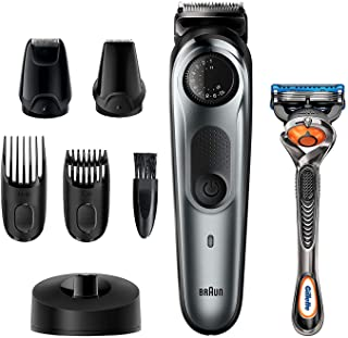 BRAUN 博朗 胡须修剪器 BT7240,男士理发器,无绳,充电,细节修剪器,迷你剃须刀,带有 Gillette ProGlide 剃须刀