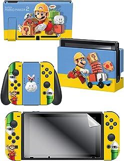 "Controller Gear 官方* Nintendo Switch 皮肤和屏幕保护膜套装 - Mario Maker""建设者"" - Nintendo Switch"