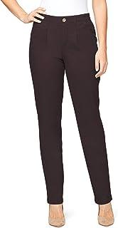 Gloria Vanderbilt 女式后弹力高腰百褶斜纹棉布裤