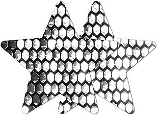 Nippies Re-Style 黑色银色亮片可重复使用星星自粘乳贴片