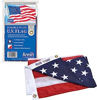 Annin Flagmakers ANN002220 2220 美国国旗全天候尼龙SolarGuard NYL-Glo,1.2 x 1.8 米