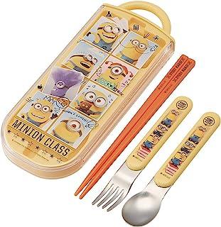 SKATER 斯凯达 便当用筷子 儿童用 餐具三件套组 筷子 餐勺 餐叉 小黄人 20 16.5cm TACC2