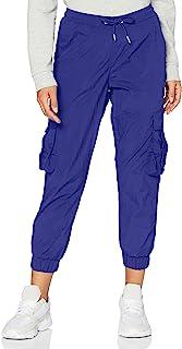 Urban Classics 女式高腰褶皱尼龙工装裤