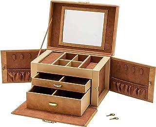 idal服务 收纳盒 棕色 25.5×18×17厘米(不含把手) 首饰盒 N182J-BR