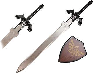Zelda Link Master Sword 暮光公主幻想剑 带饰板 - 蓝色(黑色 W/银色)