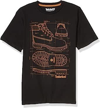 Timberland 添柏岚 儿童短袖圆领靴标志 T 恤