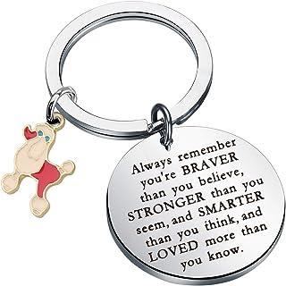 贵宾犬礼品贵宾犬爱好者钥匙扣永远记住你是勇敢更聪明的比你想更聪明钥匙扣搞笑贵宾犬礼物爱狗人士礼物
