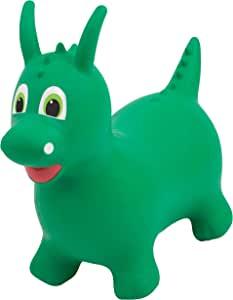 Bounce Buddies 跳跃玩具大号充气跳跃玩具,室内和室外儿童骑行玩具,包括泵,2 岁及以上男孩和女孩(绿龙)