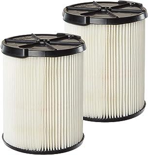 MULTI FIT 干湿吸尘器 VF7816TP 标准替换干/干真空滤芯过滤器,适用于部分CRAFTSMAN Shop 真空吸尘器 5 加仑及更大(2 件装)