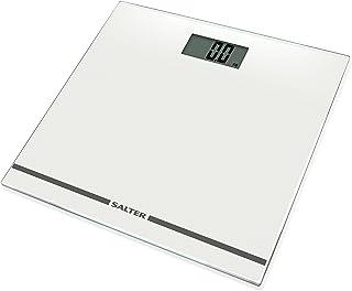Salter 大型显示数字浴室秤,易读电子秤适合精确体重玻璃超薄防水台