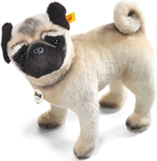 Steiff Lielou Pug 毛绒玩具,白色