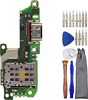 Sunways USB Type-C 2.0 充电器端口柔性电缆,带Nano-SIM 读卡器麦克风替换件,适用于华为 nova 7 5G JEF-AN00 Honor 30 JEF-NX9 JEF-AN20 BMH-AN10