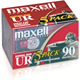 Maxell 108562 Brick PacksMaxell 108562 低噪音表面 90 分钟录音时间音频卡带,非…